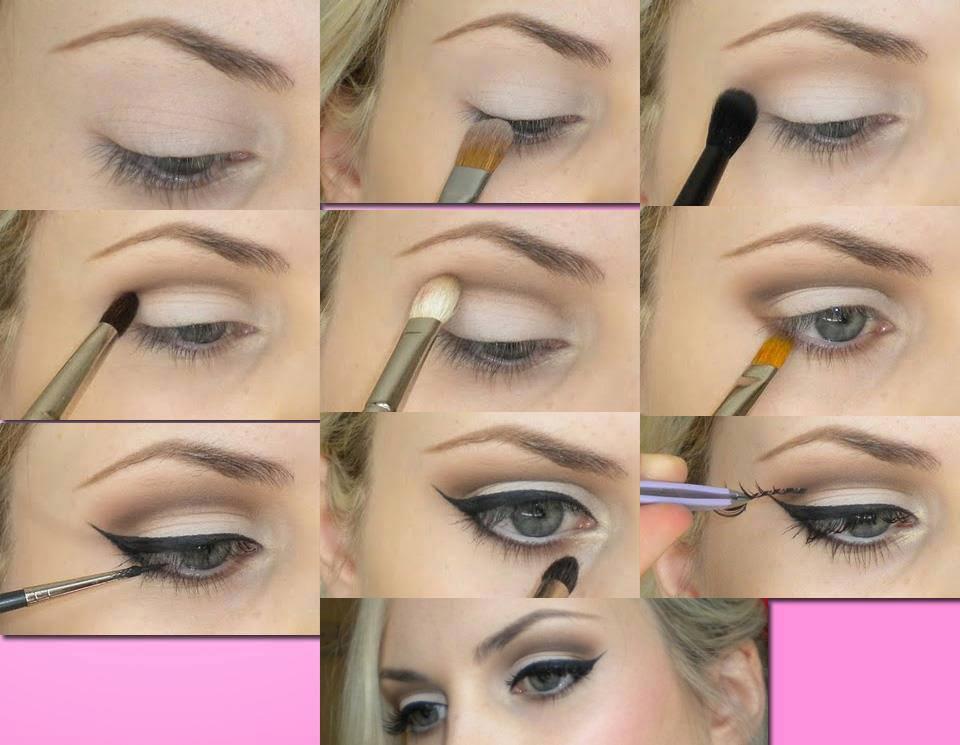 Squishy Eyeball : Makeup : Soft eye makeup with winged eyeliner Q8 Mango People