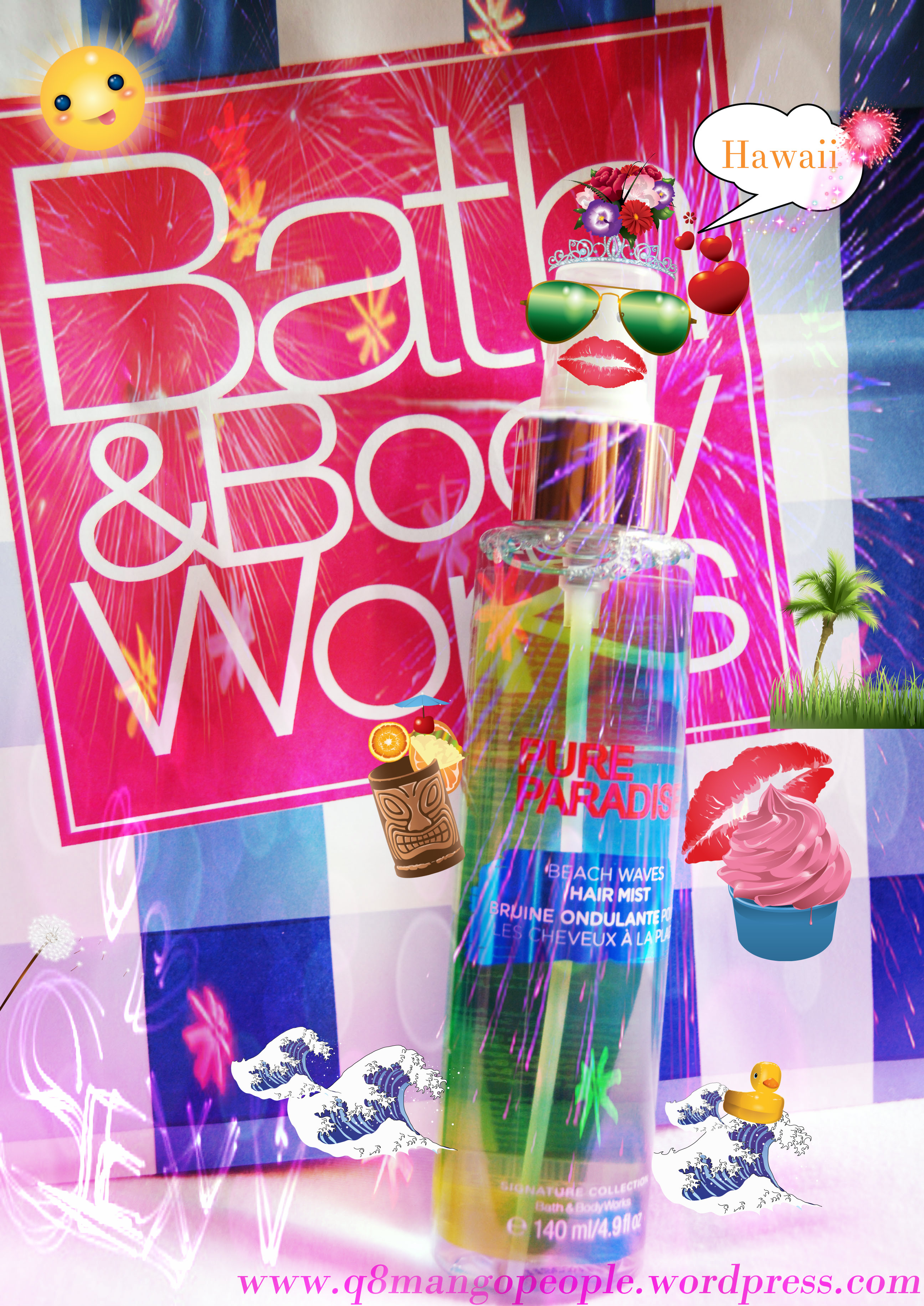Review Bath And Body Works Pure Paradise Beach Waves