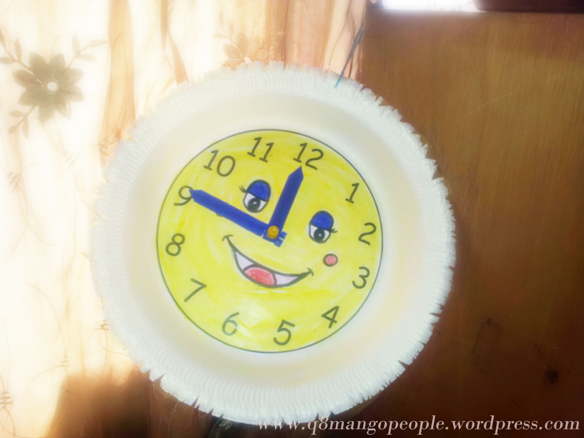 Crafts : DIY Thermocol Plate Clock