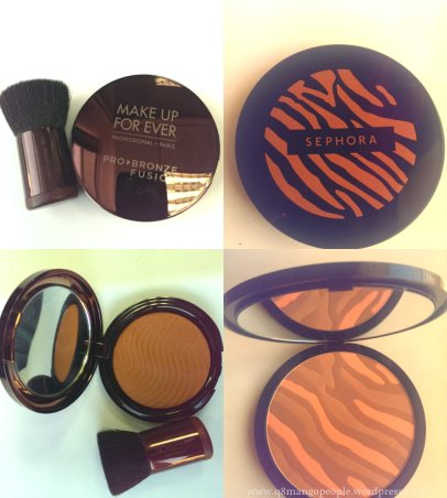 bronzer collage